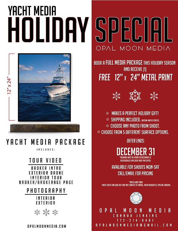 HOLIDAY OFFER , Yacht Media - Opal Moon