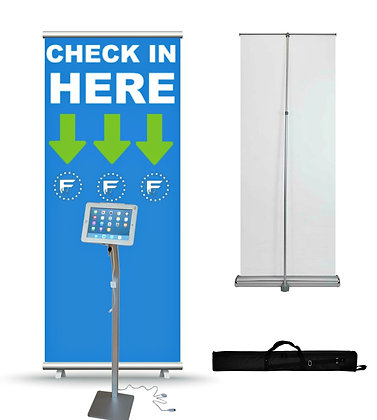 Check In Retractable Banner