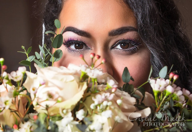 brides eyes