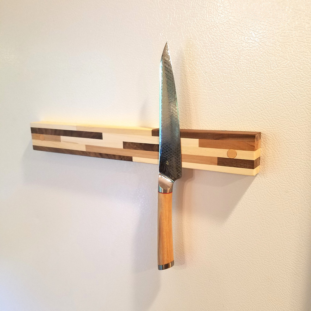 Fridge Mounted Magnetic Knife Bar