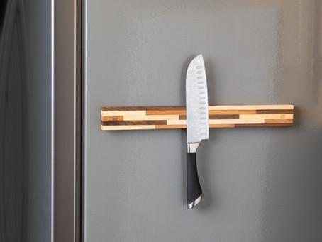 Magnetic Knife Holder for the Refrigerator