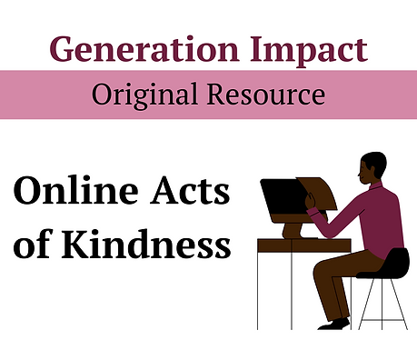Online acts of kindness