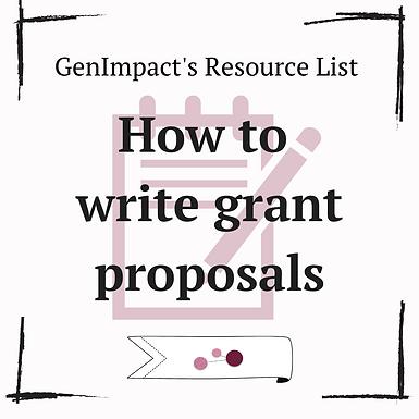 Grant-writing