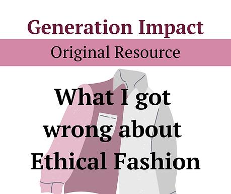 Ethical Fashion Myths