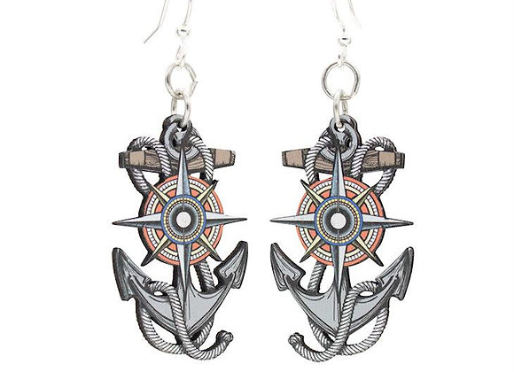 Anchor and Compass Rose #1653