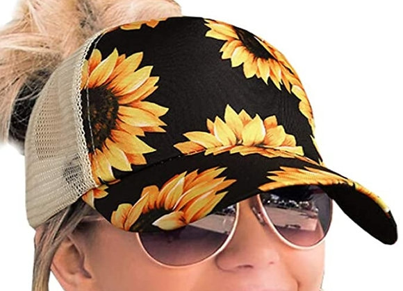 Kustomizable womens criss cross sunflower hat