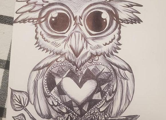 """Baby Owl"" tattoo design"