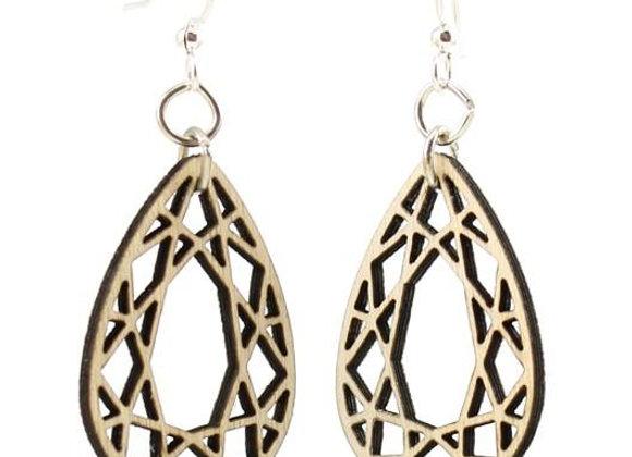 Tear Drop Wood Earrings #1605