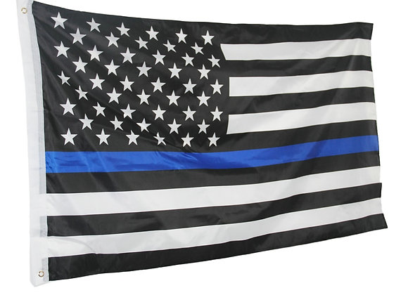 Thin Blue Line American Flag Honoring Our Men and Women of Law Enforcement