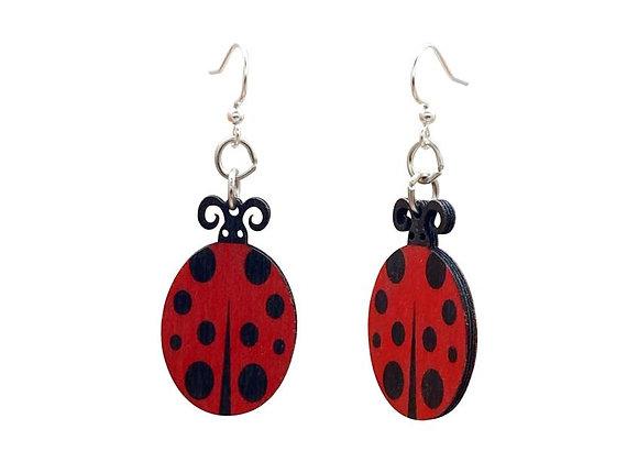 Lady Bug Earrings # 1278