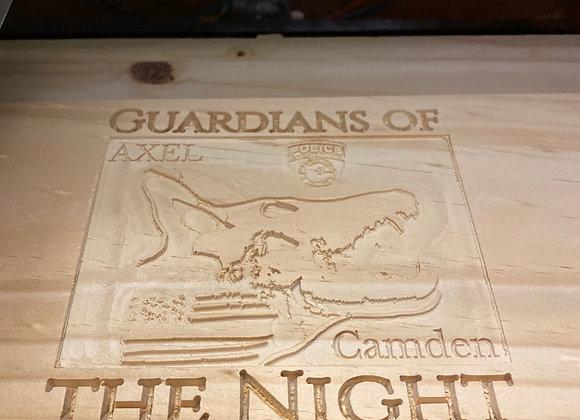 Engraved wood design