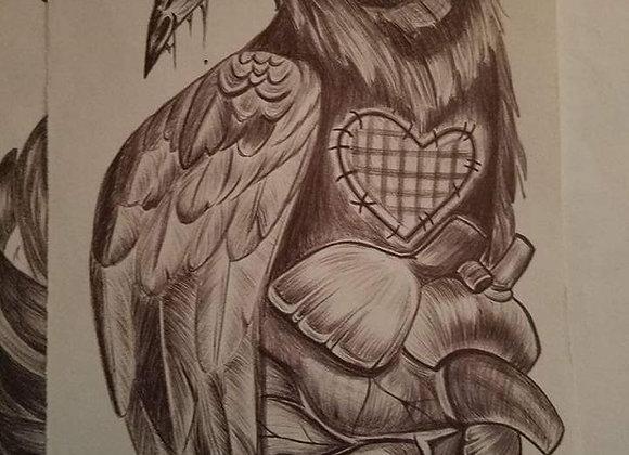 """Kreepy Crow"" tattoo design"
