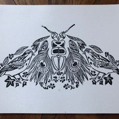 Deconstructed Moth Print