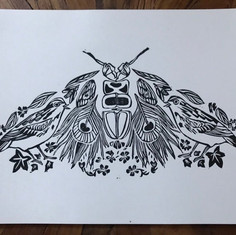 Deconstructed Moth Print