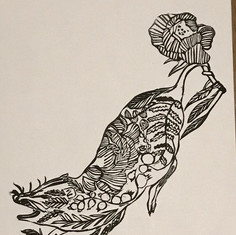 Possom Botanical Print