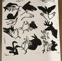 Shadoe Hand Puppet Print