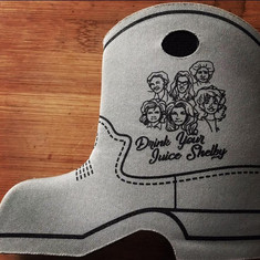 Steel Fagnolia Boot Coozie