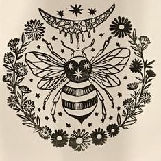 Bee Sacred Geometry Print