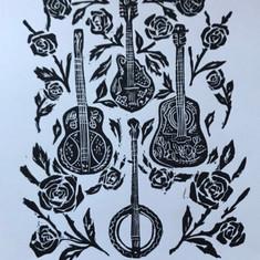 Appalachian Strings Canvas Patch
