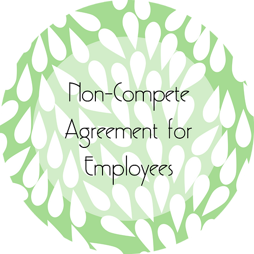 Cakes and Desserts Business--- Non-Compete Agreement for Employees