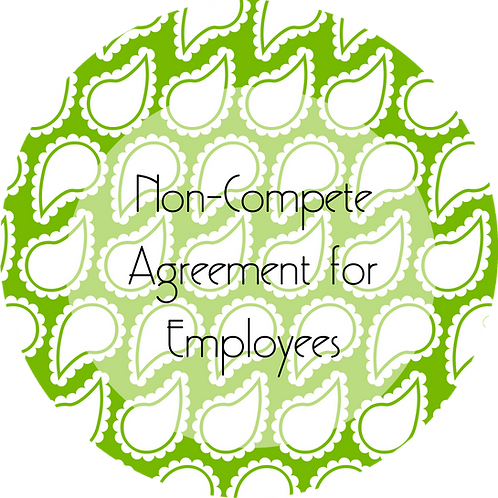 Wedding Planner --- Non-Compete Agreement for Employees