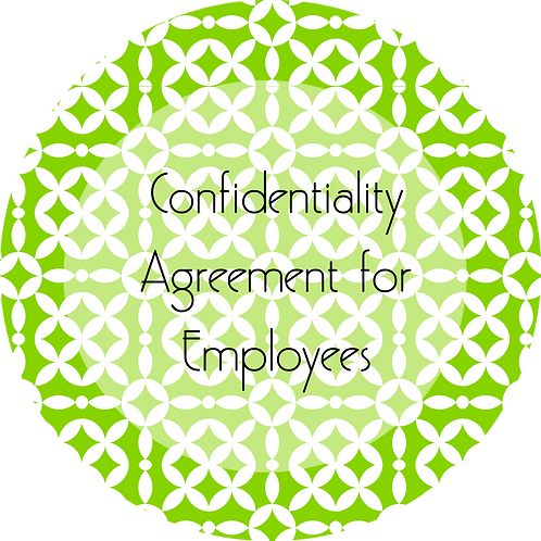 Event Entertainment--- Confidentiality Agreement for Employees