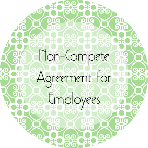 Catering--- Non-Compete Agreement for Employees