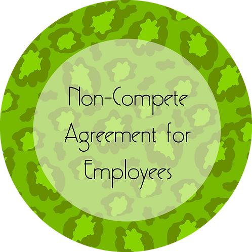 Fashion--- Non-Compete Agreement for Employees