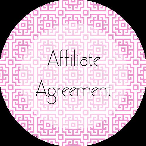 Visual Arts---Affiliate Agreement