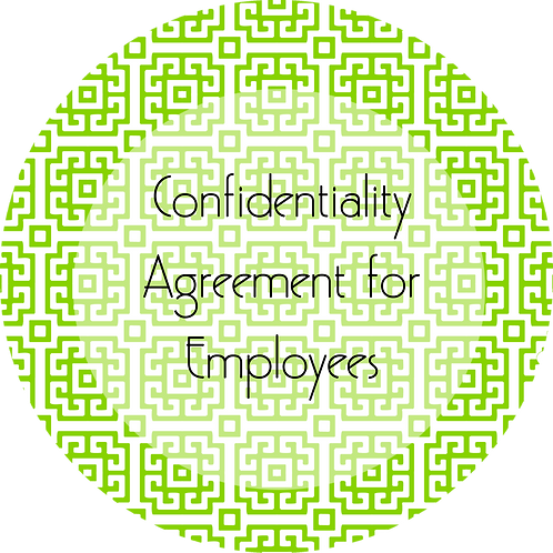 Visual Arts--- Confidentiality Agreement for Employees