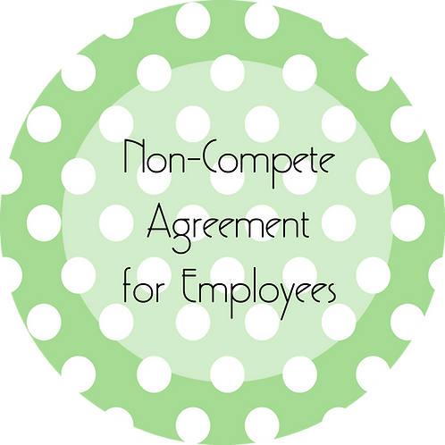 Crafter--- Non-Compete Agreement for Employees