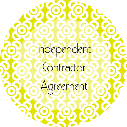 Photography--- Independent Contractor Agreement