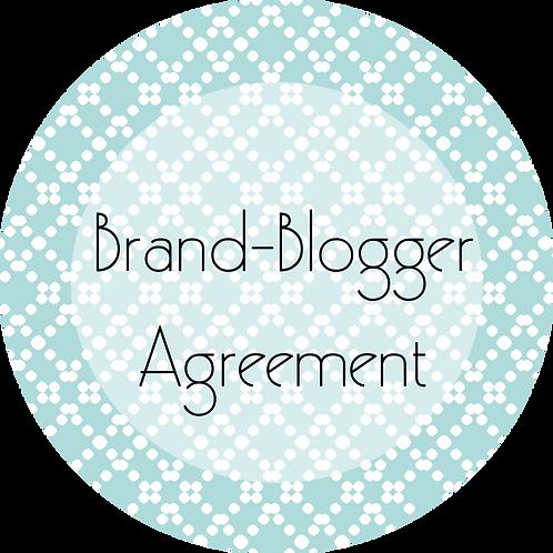 Blogs---Brand- Blogger Agreement