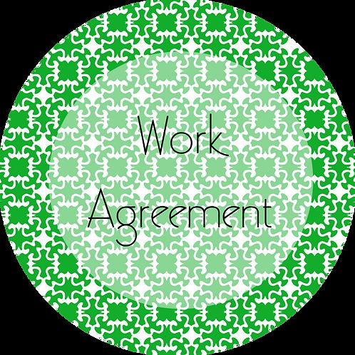 Wedding Cake Design--- Work Agreement