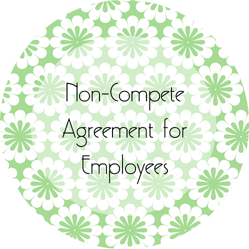 Floral Design--- Non-Compete Agreement for Employees