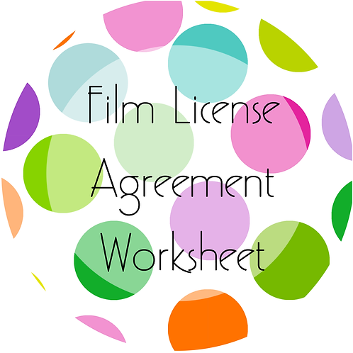 Add-Ons---Film License Agreement Worksheet