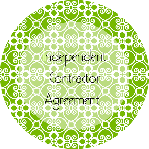 Catering--- Independent Contractor Agreement