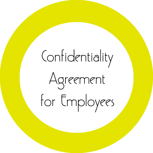 Upholstery Business--- Confidentiality Agreement for Employees