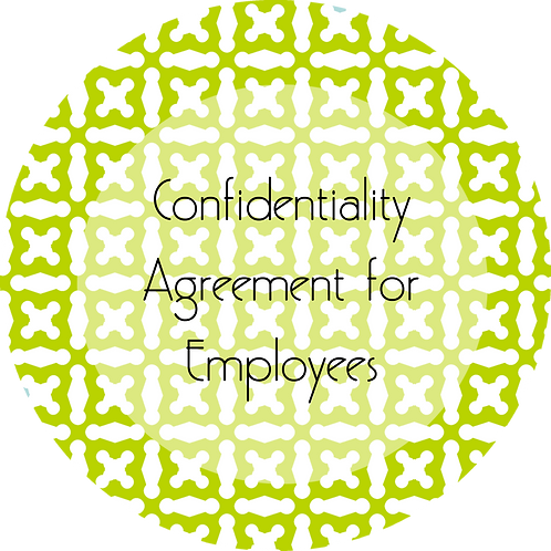 Spa Businesses--- Confidentiality Agreement for Employees