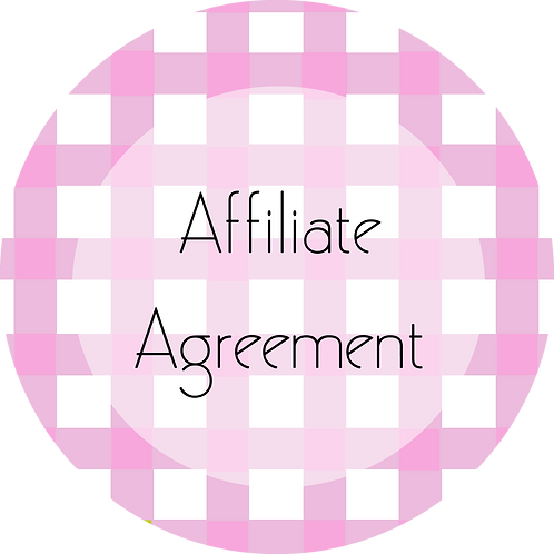 Calligraphy & Paper Goods---Affiliate Agreement