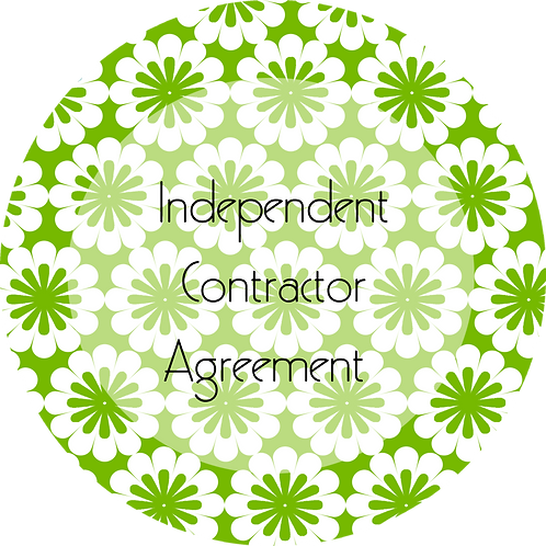 Floral Design--- Independent Contractor Agreement