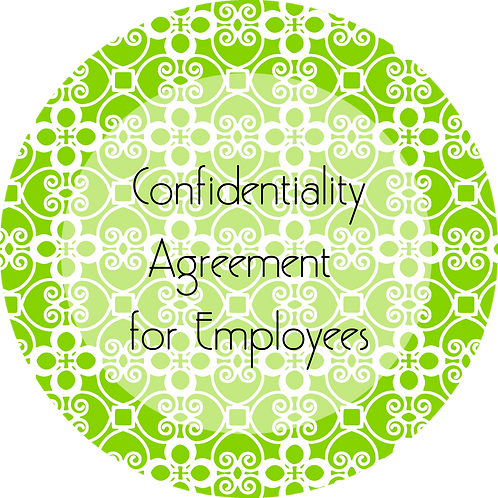 Catering--- Confidentiality Agreement for Employees