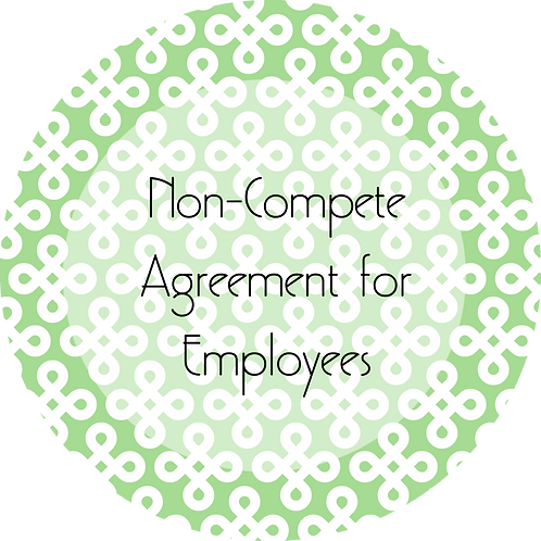 Interior Design--- Non-Compete Agreement for Employees