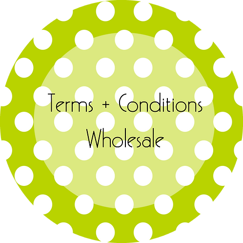Crafter--- Terms & Conditions Wholesale