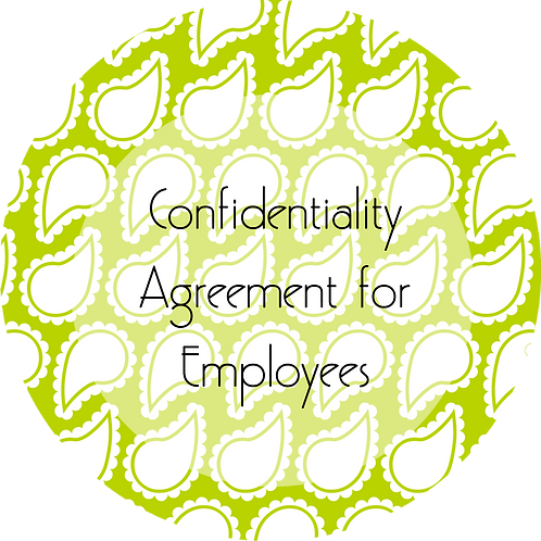 Wedding Planner--- Confidentiality Agreement for Employees