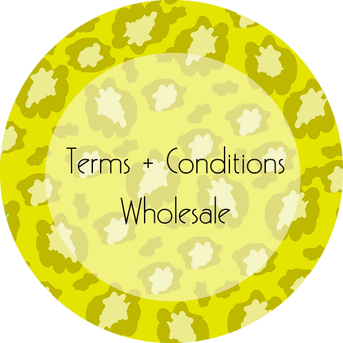 Fashion--- Terms & Conditions Wholesale