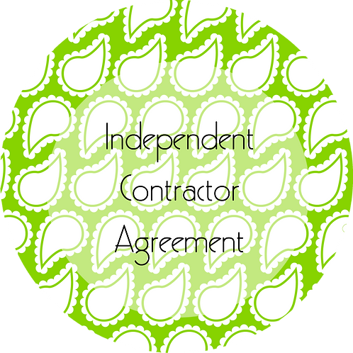 Wedding Planner--- Independent Contractor Agreement