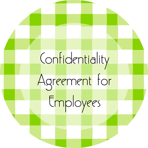 Calligraphy & Paper Goods--- Confidentiality Agreement for Employees