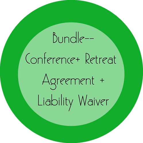 Conferences + Retreats---Event Agreement + Liability Waiver Bundle