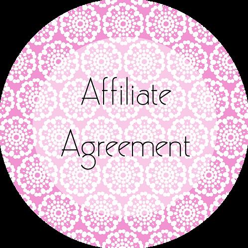 Event Rentals---Affiliate Agreement